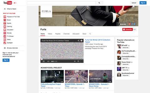 Screenshot of YouTube Page youtube.com - Furla  - YouTube - captured Oct. 26, 2014