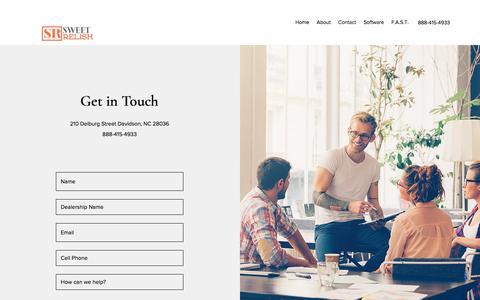 Screenshot of Contact Page sweetrelish.com - Contact | Sweet Relish - captured July 9, 2019