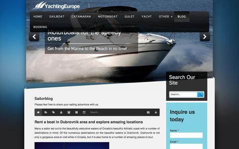 Screenshot of Blog yachtingeurope.com - Recent blog posts - YachtingEurope - Sailorblog - captured July 25, 2018