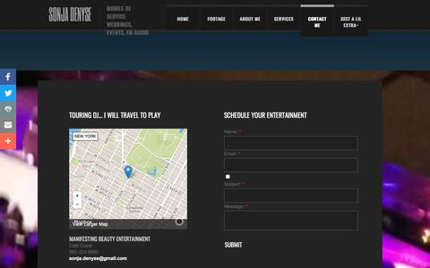Screenshot of Privacy Page Contact Page sonjadenyse.com - Contact Sonja Denyse - captured Sept. 21, 2018