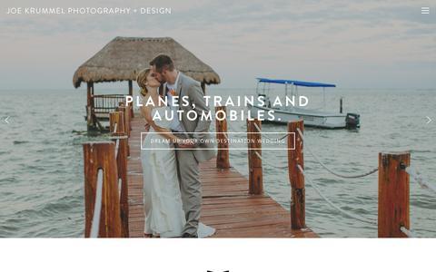 Screenshot of Home Page joekrummel.com - Joe Krummel Photography + Design - captured Oct. 6, 2014