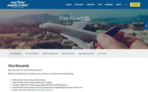 Visa Rewards- America First Credit Union