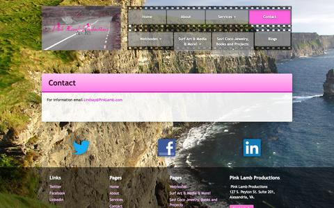 Screenshot of Contact Page pinklamb.com - Contact Pink Lamb Productions - Film, Video, and Multimedia - captured Oct. 2, 2014
