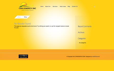 Screenshot of Blog ciraenergy.com - Blog Archives - CIRA Energy, Inc | CIRA Energy, Inc - captured Oct. 3, 2014