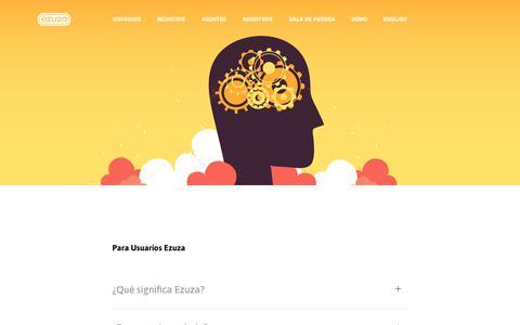 Screenshot of FAQ Page ezuza.com - FAQ – Ezuza - captured Oct. 19, 2018