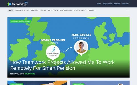 Screenshot of Blog teamwork.com - Teamwork.com Blog  Thoughts from the team behind Teamwork.com - captured Feb. 16, 2016