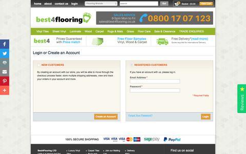 Screenshot of Login Page best4flooring.co.uk - Customer Login  | Best4flooring UK - captured June 3, 2017