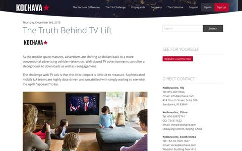 The Truth Behind TV Lift - Kochava