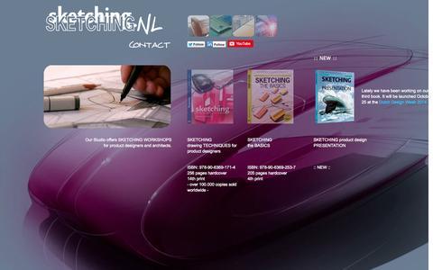 Screenshot of Home Page sketching.nl - S K E T C H I N G books and design sketching workshops - cursus product design schetsen, cursus handtekenen, tekenen perspectief, tekencursus, sketch worshop, id sketching - captured Sept. 29, 2014