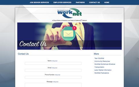 Screenshot of Contact Page sjcworknet.org - Publications | San Joaquin County WorkNet - captured Nov. 18, 2016