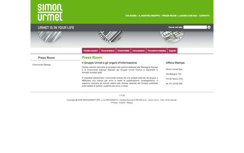 Screenshot of Press Page simonurmet.com - Press Room - captured Oct. 26, 2014
