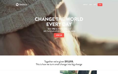 Screenshot of Home Page goodst.org - Good St. - captured June 28, 2016