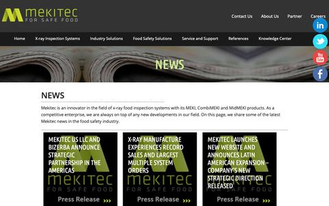 Screenshot of Press Page mekitec.com - Mekitec's Food X-ray Systems to Lead the Way to Better Product Quality - captured Oct. 17, 2018