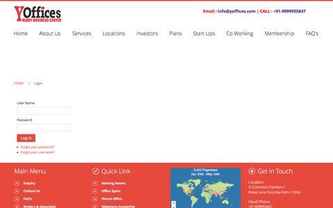 Screenshot of Login Page yoffices.com - Login - captured May 4, 2017