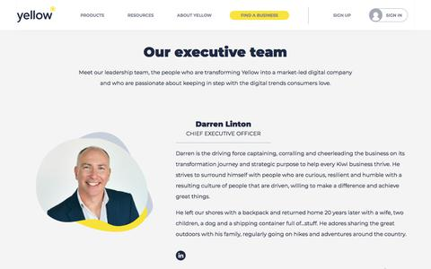 Screenshot of About Page yellow.co.nz - About Us | Yellow® NZ - captured Jan. 17, 2020