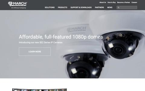 Screenshot of Home Page marchnetworks.com - Intelligent IP Video Surveillance | March Networks - captured Aug. 11, 2018