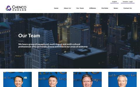 Screenshot of Team Page chenco.com - Team – Chenco Holdings - captured Sept. 27, 2018