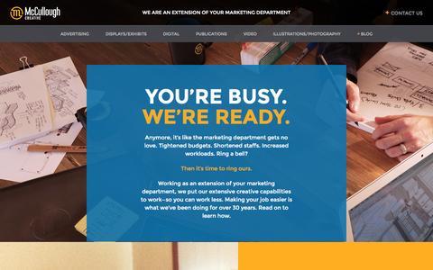 Screenshot of Home Page shootforthemoon.com - Home - McCullough Creative - captured Sept. 6, 2015