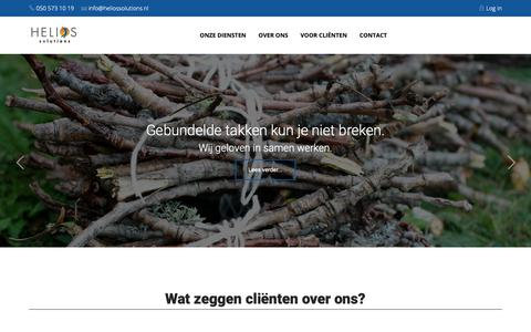 Screenshot of Home Page Login Page heliossolutions.nl - Helios Solutions - captured Sept. 28, 2018