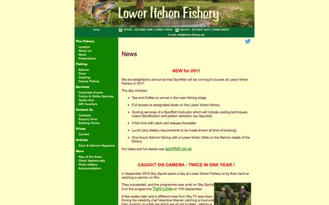 Screenshot of Press Page itchen-fishing.co.uk - Lower Itchen Fishery for fly fishing - One of the finest chalk stream rivers - captured Oct. 3, 2014