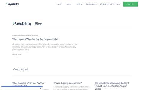 Screenshot of Blog payability.com - Blog - Payability - captured May 21, 2019