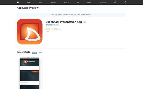 SlideShark Presentation App on the AppStore