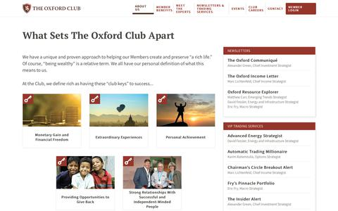 Screenshot of About Page oxfordclub.com - About The Oxford Club | The Oxford Club - captured July 13, 2018