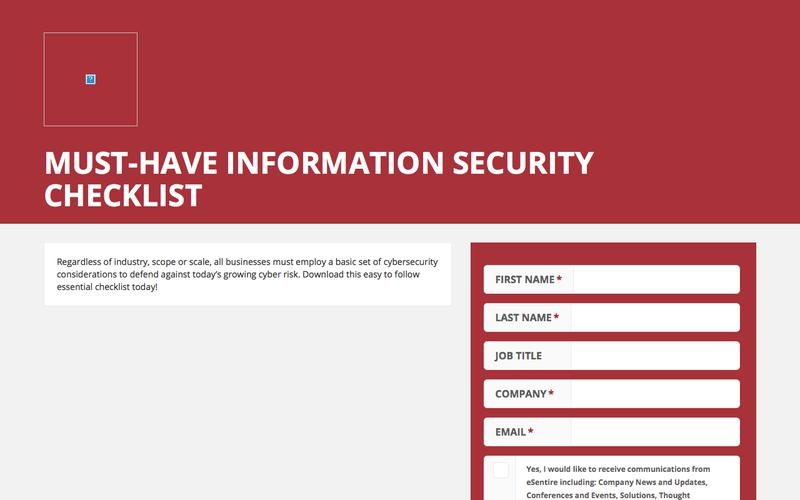 Must-Have Information Security Checklist