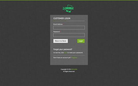 Screenshot of Login Page 28mobile.com - Account | 28mobile - captured Oct. 31, 2014