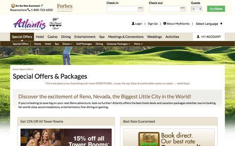 Screenshot of atlantiscasino.com - Reno Hotel Deals and Offers | Atlantis Casino Resort Spa - captured Aug. 24, 2016