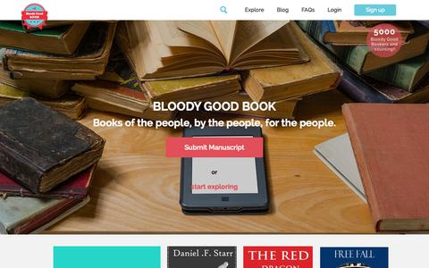 Screenshot of Home Page bloodygoodbook.com - Bloody Good Book - Home Bloody Good Book - captured Sept. 24, 2014