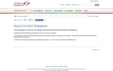 Screenshot of About Page contactsingapore.sg - About Contact Singapore - Contact Singapore - captured Nov. 3, 2014