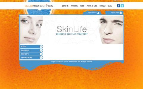 Screenshot of Products Page bluemandarines.com - Products | Blue Mandarines - captured Sept. 30, 2014