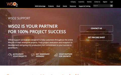 Screenshot of Support Page wso2.com - Support   WSO2 Inc - captured Dec. 9, 2015