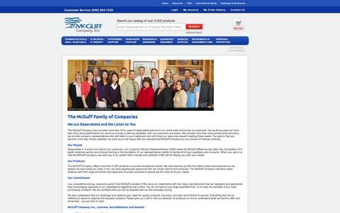 Screenshot of About Page mcguffmedical.com - About McGuff Company - captured Oct. 27, 2014