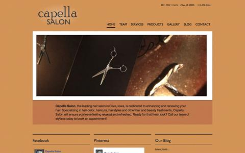 Screenshot of Home Page capelladsm.com - Capella - captured Oct. 1, 2014