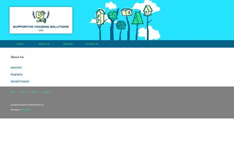 Screenshot of About Page supportivehousingsolutions.com - Supportive Housing Solutions - Home - captured Oct. 7, 2014