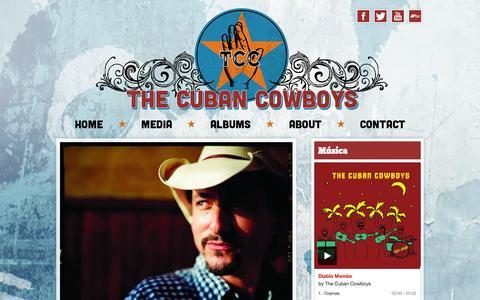 Screenshot of Home Page cubancowboys.com - The Cuban Cowboys - captured Oct. 7, 2014