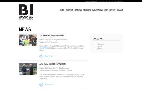 Screenshot of Press Page bramwell-int.co.uk - News - The latest from Meindl | Bramwell Int UK and Ireland - captured July 6, 2017
