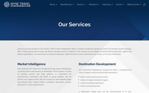 Screenshot of Services Page wysetc.org - Services - WYSE Travel Confederation - captured Dec. 17, 2017