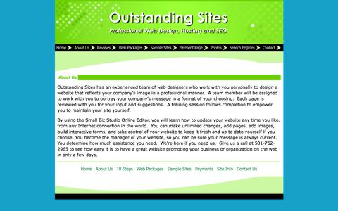 Screenshot of About Page outstandingsites.com - Call Outstanding Sites For A Professional Website For Less. 501-762-2965 - About Outstanding Sites Web Design - captured March 3, 2016
