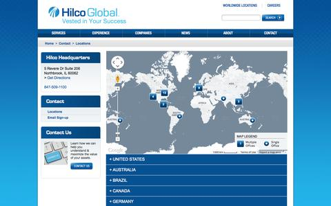 Screenshot of Locations Page hilcoglobal.com - Office Locations - Hilco Global - captured Oct. 22, 2014