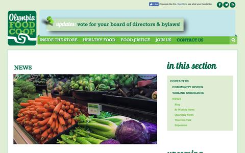 Screenshot of Press Page olympiafood.coop - News | Olympia Food Co-op - captured Oct. 20, 2018