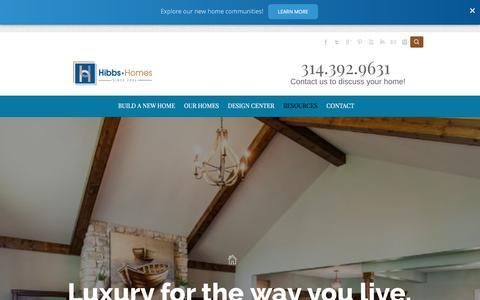 Screenshot of Blog hibbshomes.com - Home Builder Blog - captured Nov. 7, 2016
