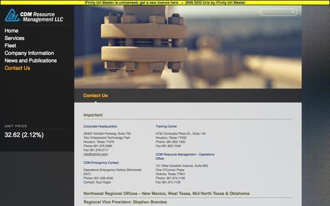 Screenshot of Contact Page cdmrm.com - Regency CDM > Contact Us - captured Oct. 1, 2014