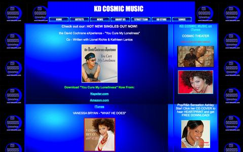 Screenshot of Home Page kdcosmic.com - kdcosmicmusic.html - captured Oct. 6, 2014