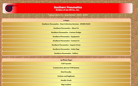 Screenshot of Site Map Page southernpneumatics.com - Southern Pneumatics Dust Collection Systems Site - Generated by www.xml-sitemaps.com - captured Sept. 21, 2018