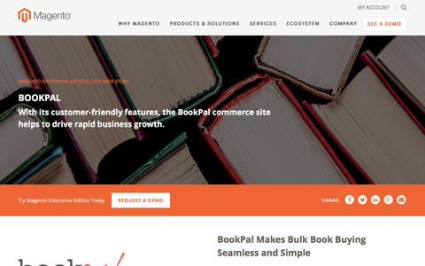 Screenshot of Case Studies Page magento.com - BookPal | Magento - captured March 9, 2017