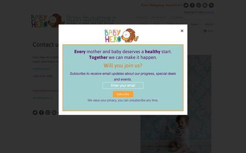 Screenshot of Contact Page babyhe.ro - Contact us                             Baby Hero - captured Oct. 5, 2014