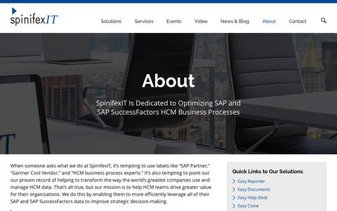 Screenshot of About Page spinifexit.com - About SpinifexIT | SpinifexIT - captured Feb. 23, 2016